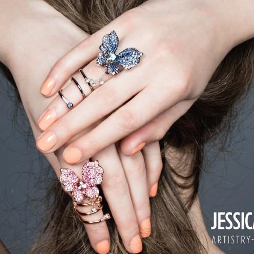 加插一件最特別最顯眼的statement piece,整個造型便升華不少,足以出席各項大型場合。(Butterfly diamond ring by Unicron)