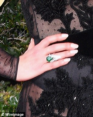 Catherine Zeta Jones- emerald ring