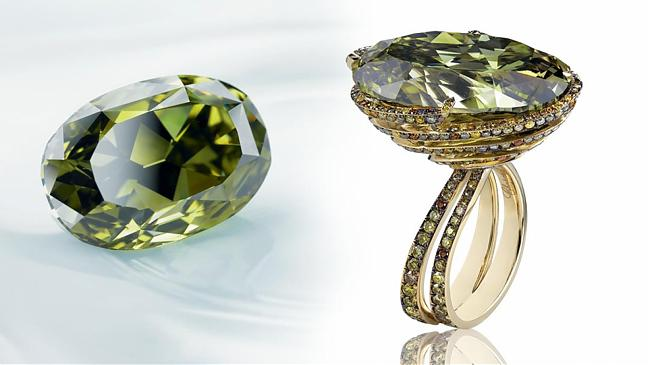 重達31.32卡的變色龍鑽石- Chopard Chameleon