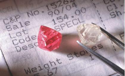 2. 紅鑽石及鑽石原石