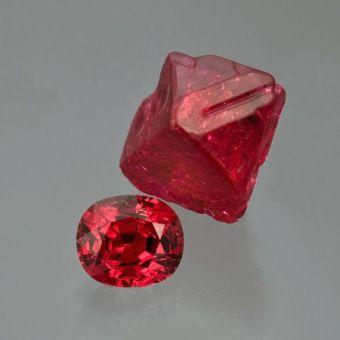 4. 已切割紅色尖晶石及原石