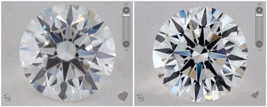 4. 正常光下的G色鑽石- 左_有強螢光-右_沒有螢光.jpg